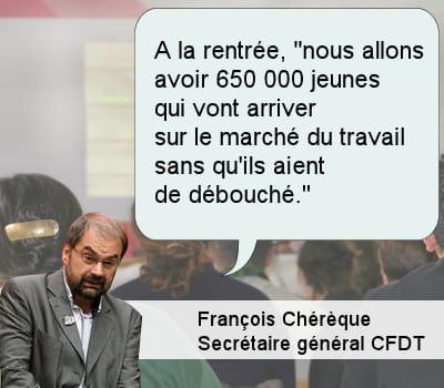 françois chérèque, secrétaire général de la cfdt.