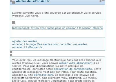 ici une alerte du parisien