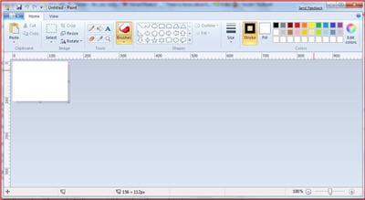 le ruban s'étend à paint et aux autres applications windows.