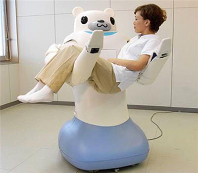 le robot riba peut soulager infirmières et brancardier des tâches les plus