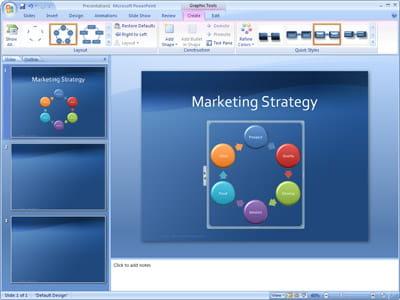 le logiciel dans sa version office 2007