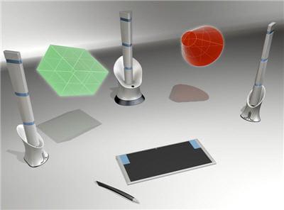 des images dans l'airen 3d grâce à une technologie au laser