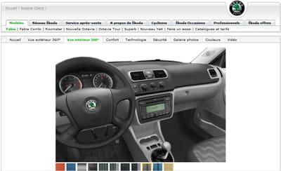skoda a modélisé l'intérieur de ses véhicules en 3d pour permettre à