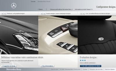 intuitif, le configurateur 'designo' de mercedes permet de choisir rapidement