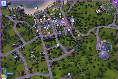 les sims ont désormais accès à une ville complète et variée