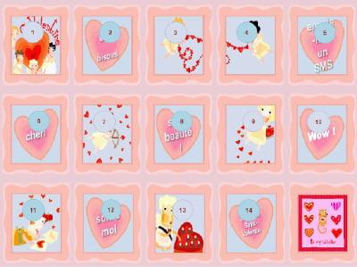 ce calendrier vous mènera jusqu'à la fête de la saint valentin