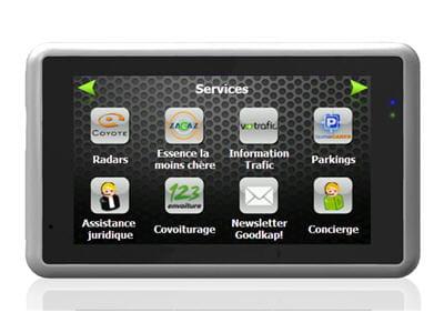 menu permettant d'accéder aux divers services