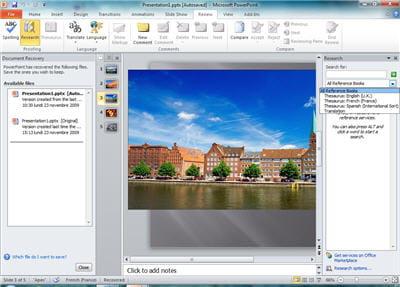 powerpoint 2010 est vraiment la plus grosse évolution de cette suite bureautique