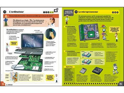double page permettant de comprendre le fonctionnement d'un ordinateur portable