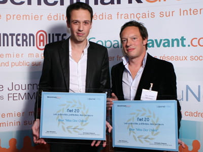 matthieu nicou,international internet manager chez dior, et frédéric bischoff,