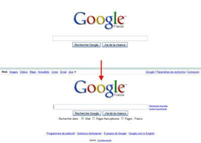 la nouvelle page d'accueil de google s'enrichit au survol de la souris