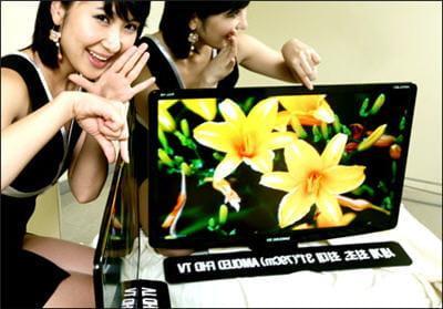 un prototype de téléviseur oled de samsung