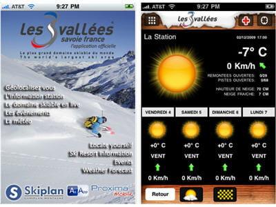 application dédiée au domaine skiable des 3 vallées