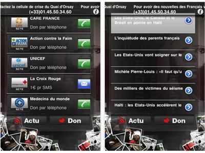 application permettant de s'informer et de soutenir le peuple haïtien