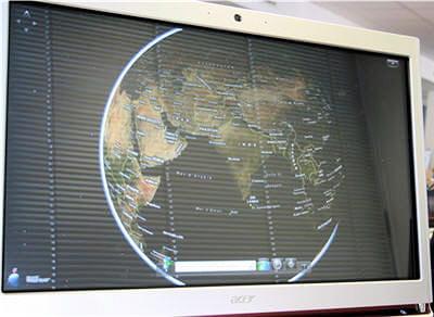le service virtual earth de microsoft sur l'acer aspire z5610