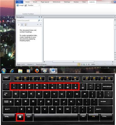windows + un chiffre