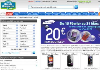 rueducommerce.com propose de choisir un produit 'sur mesure'