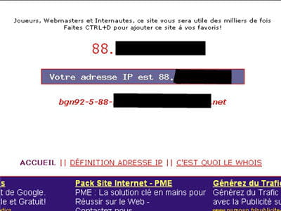 copie d'écran du site