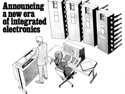 en 1971, la première publicité de intel met en avant l'aspect programmable du