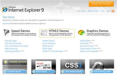le service pour installer la preview du navigateur internet explorer 9.