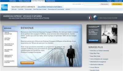 le site d'american express voyages d'affaires.