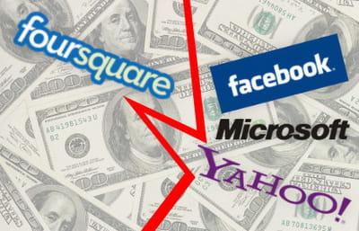 foursquare a refusé les offres de rachat de yahoo et facebook