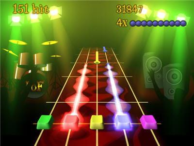 copie assumée des guitar hero et rock band, cette version est prévue pour