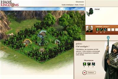 l'interface d'un heroes se devait d'être propre par rapport aux nombreux jeux