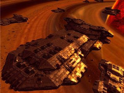 du bon gros vaisseau qui va envoyer valser les petits chasseurs adverses.