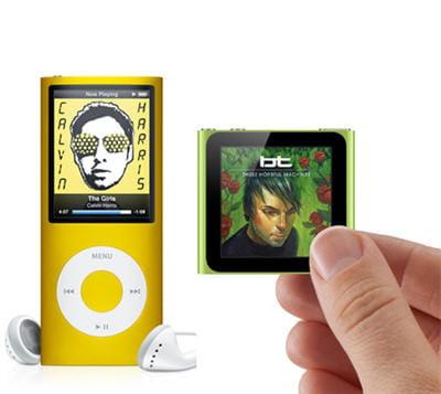 l'ancien nano-vidéo : complet et fun contre le nouveau : léger et musique
