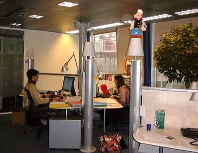 les premiers locaux d'ebay france, en 2004