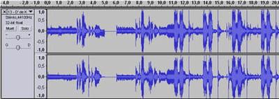 on a deux pistes, deux ondes, c'est parce qu'on est en stéréo