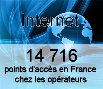 les noeuds de raccordement d'abonnés sont au nombre de 14 700 en france en