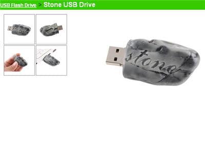 la clé usb en forme de pierre.