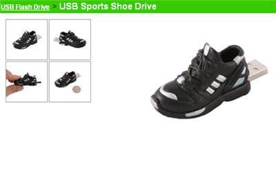 la usb sports shoe drive