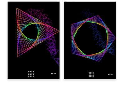exemple de formes animées par ce fond d'écran.