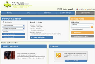 copie d'écran dusite civiweb.com