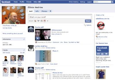 avec son interface authentifiée, facebook n'a que peu d'influence sur les