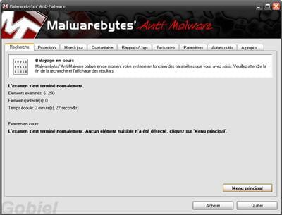 copie d'écran du logiciel proposé sur le site de l'éditeur.