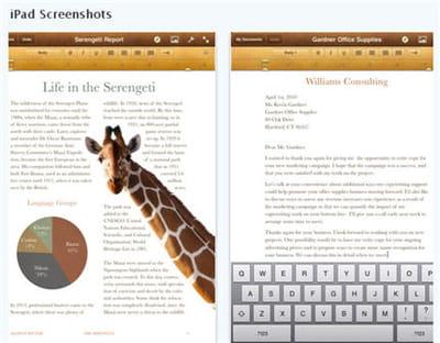 l'application pages a été transposé sur les principales plates-formes d'apple.