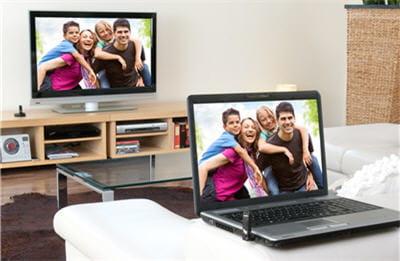 connectez en sans fil votre ordinateur au t l viseur connecter en sans fil votre ordinateur au. Black Bedroom Furniture Sets. Home Design Ideas