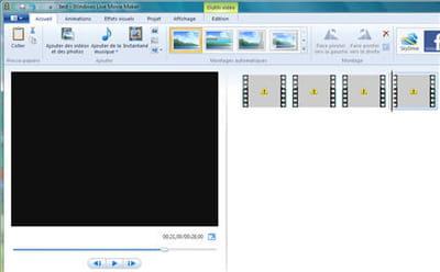 impatient, j'importe mes 4 vidéos de ma caméra et ... ben non en fait.