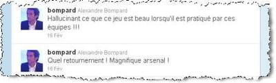 ses tweets sur le football.
