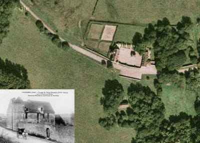 une vue aérienne du château de saint-germain.