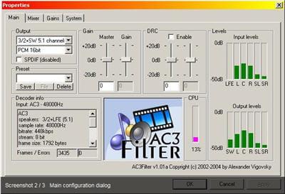 copie d'écran du logiciel disponible sur sourceforge.