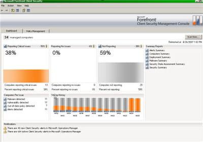 tableau de bord de surveillance des attaques et intrusions de microsoft client