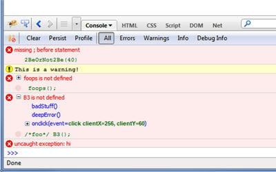 copie d'écran de l'application firebug