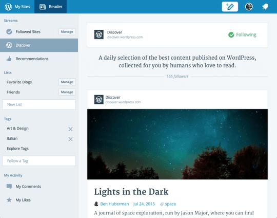 WordPress.com refondu en JavaScript, et publié en open source