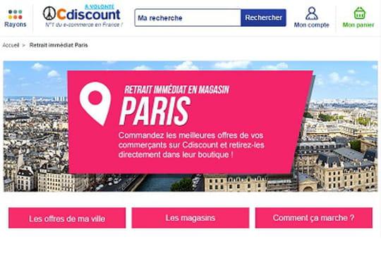 Cdiscount lance à Paris son service de disponibilité immédiate