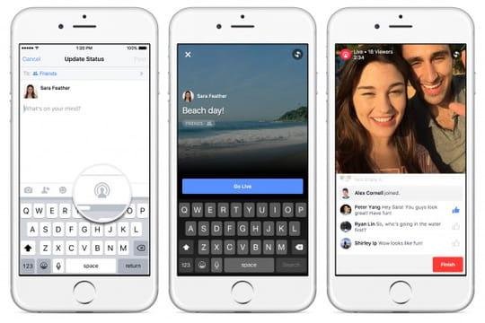 Facebook met un pied sur les plates-bandes de Periscope et Meerkat